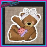 CUTE BEAR DESIGN JUTE  SHOPPING LADIES GIFT BAG 006